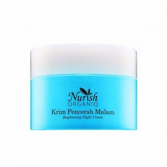Nurish Organiq Brightening Night Cream Krim malam terbaik di drugstore