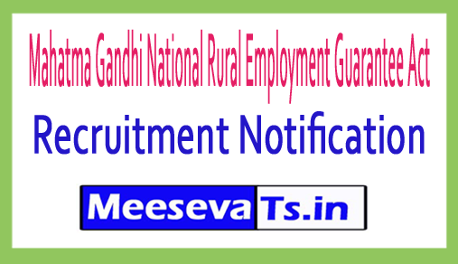 Mahatma Gandhi National Rural Employment Guarantee Act MGNREGA Recruitment 2018