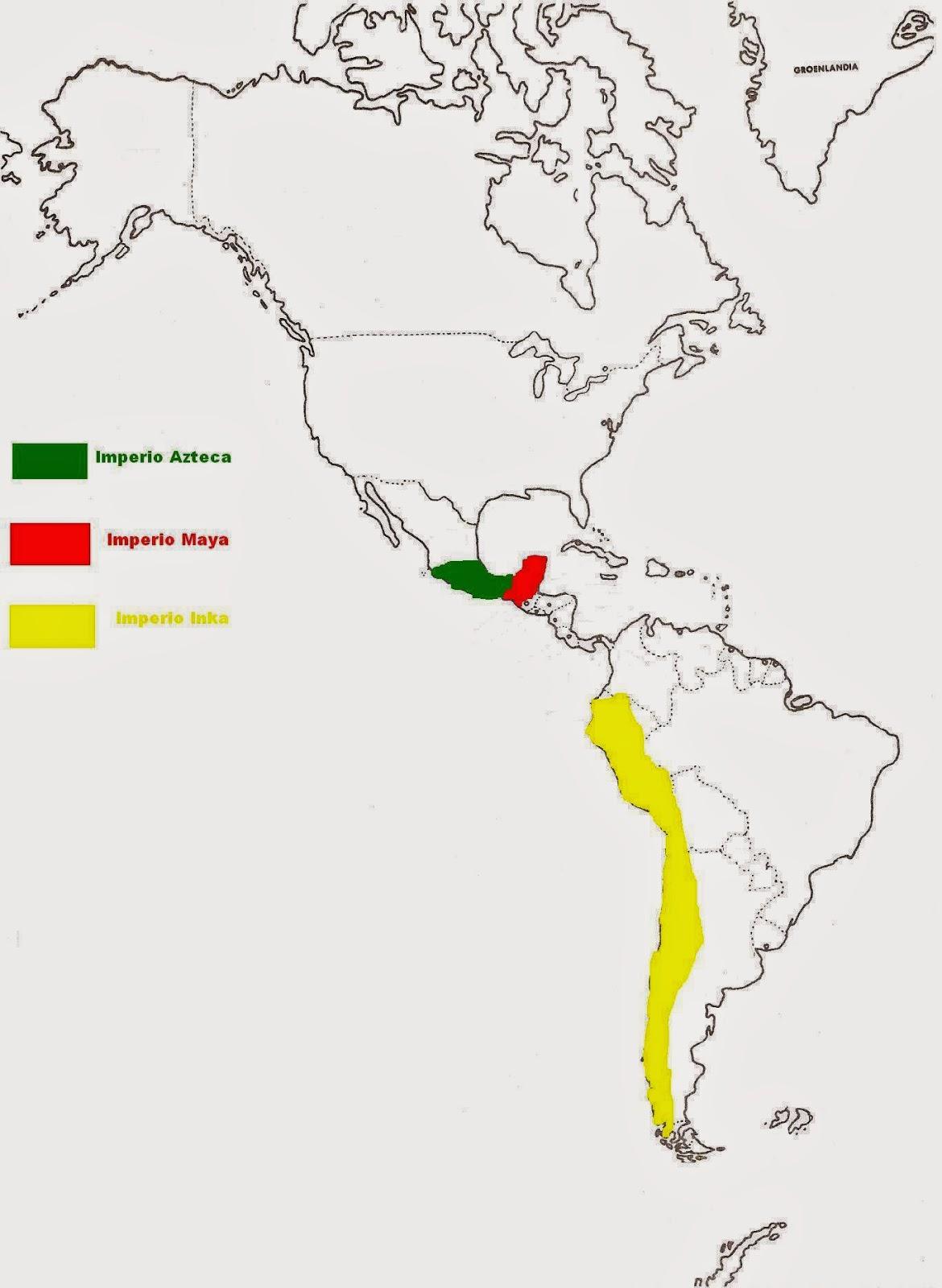 Mapa Incas Mayas Y Aztecas
