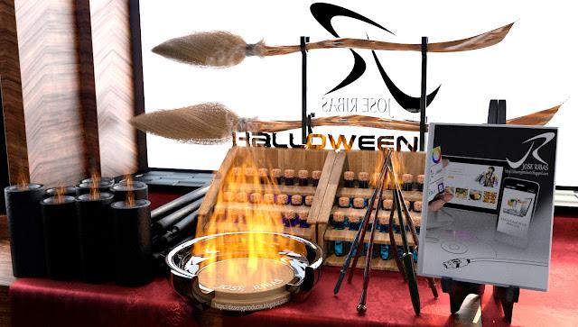 Proceso de renderización de imagen Hallowen, resultado final, Blender