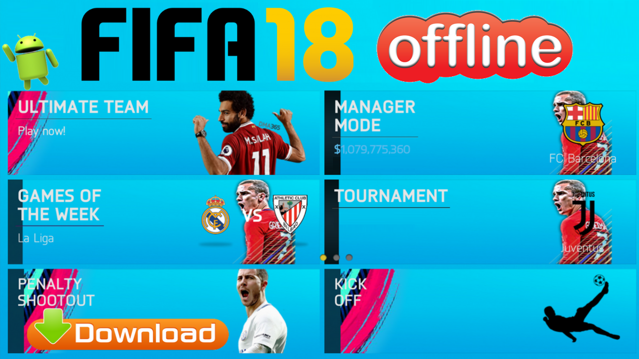 Download Fifa 2018 Offline Android Mod Update