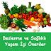 Beslenme ve Sağlıklı Yaşam İçi Öneriler
