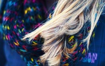 Wallpaper: Blonde Hair. Macro. Lady