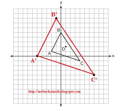 write a sequence of transformations that maps quadrilateral song