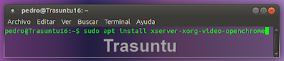 sudo apt install xserver-xorg-video-openchrome