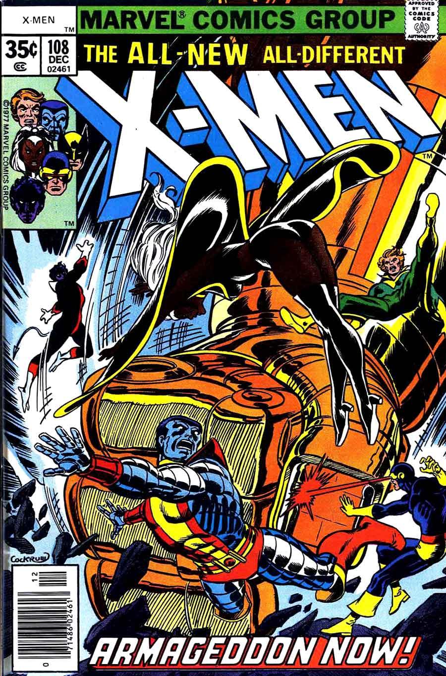 X-men v1 #108 marvel comic book cover art by John Byrne