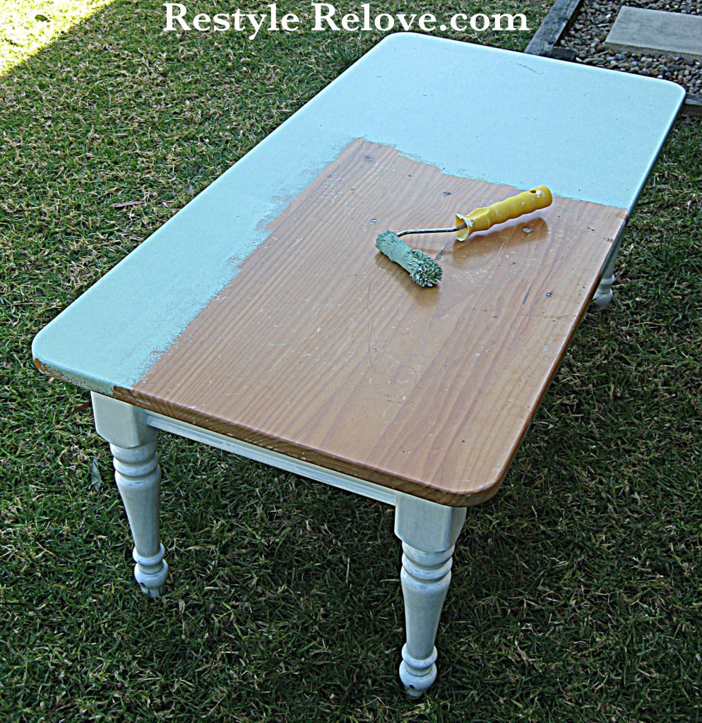 Shabby Chic Coffee Table Nz: Shabby Chic Green Coffee Table Restyle