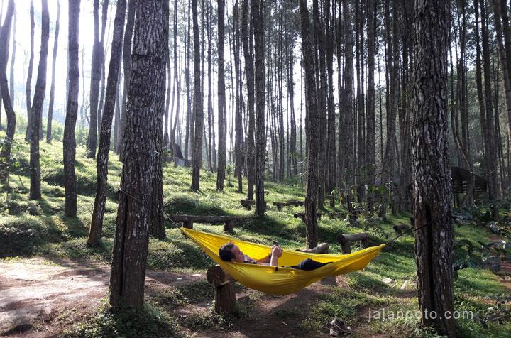 hammockan di ciherang camping ground