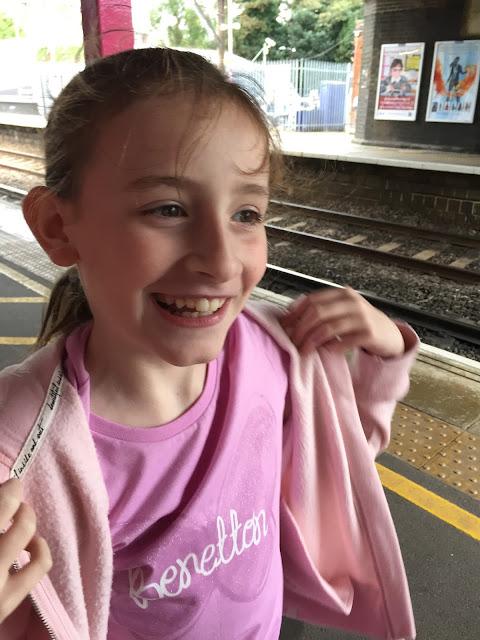 Sasha at the train station