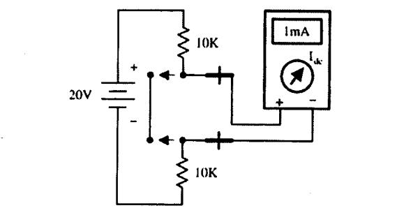 طريقة قياس شدة التيار في دارة الكترونية