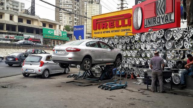 تغيير اطار السيارات