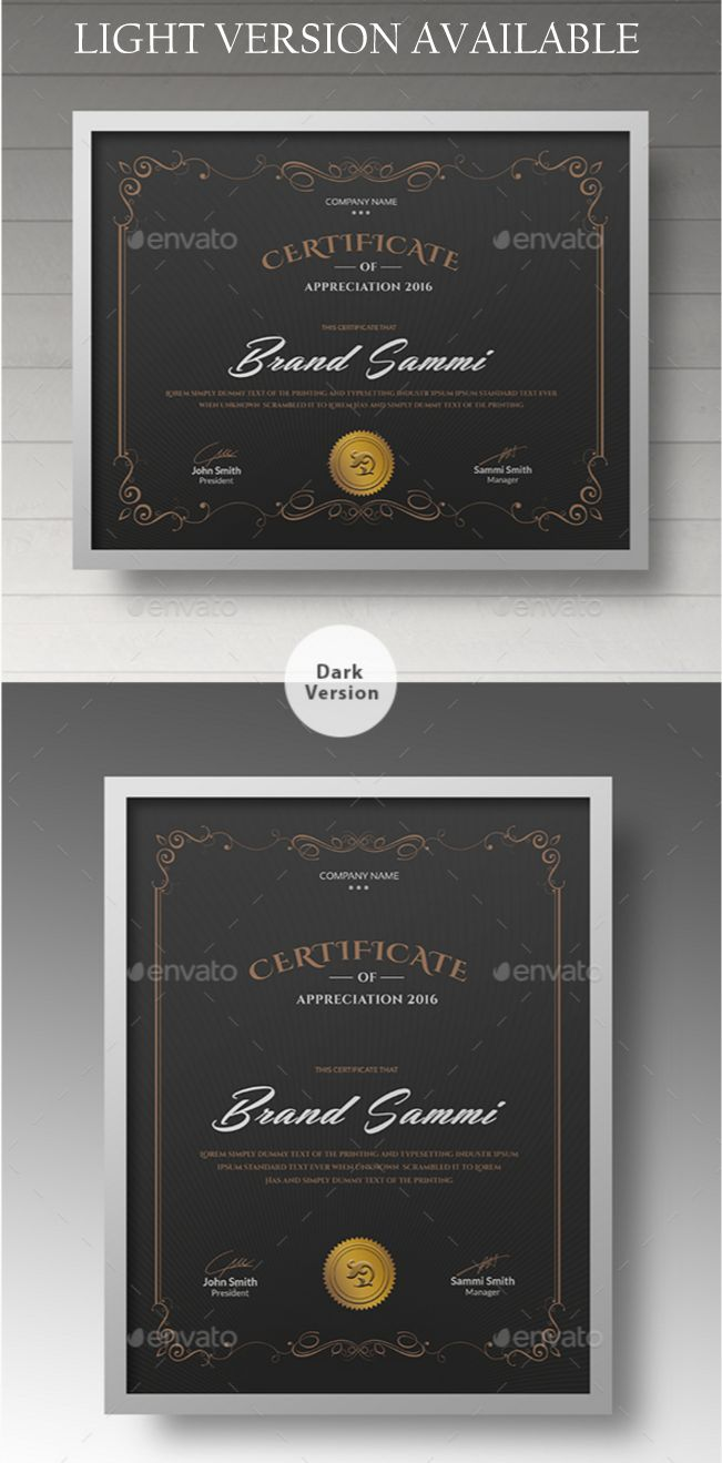 Awesome Certificate Templates In PSD MS Word Vector EPS Formats - Awesome word 2013 certificate template design