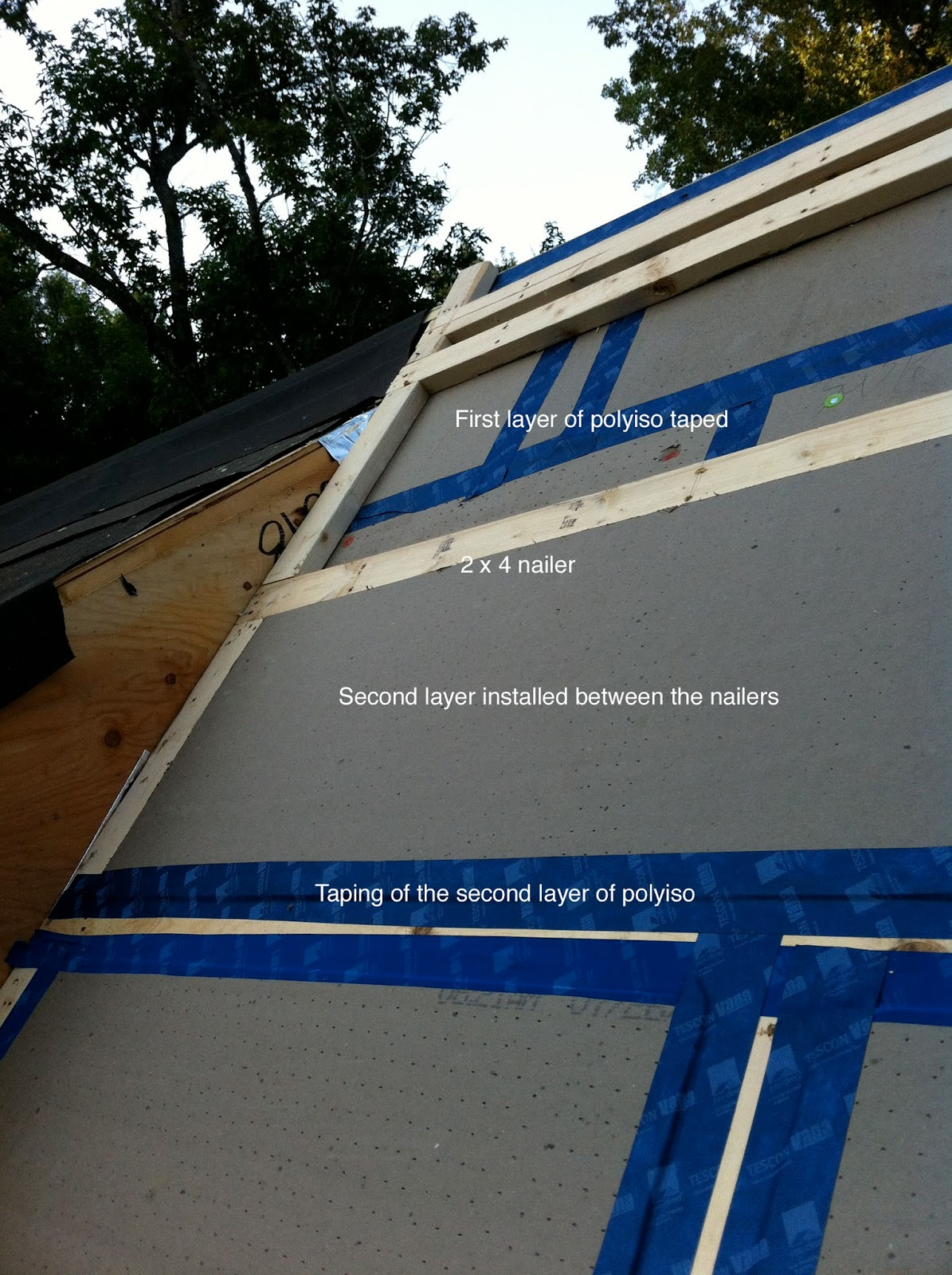 Green In Greenville Insulating The Roof With Polyiso Foam
