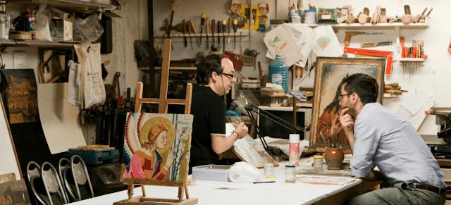 Artesanato e obras de arte em Florença