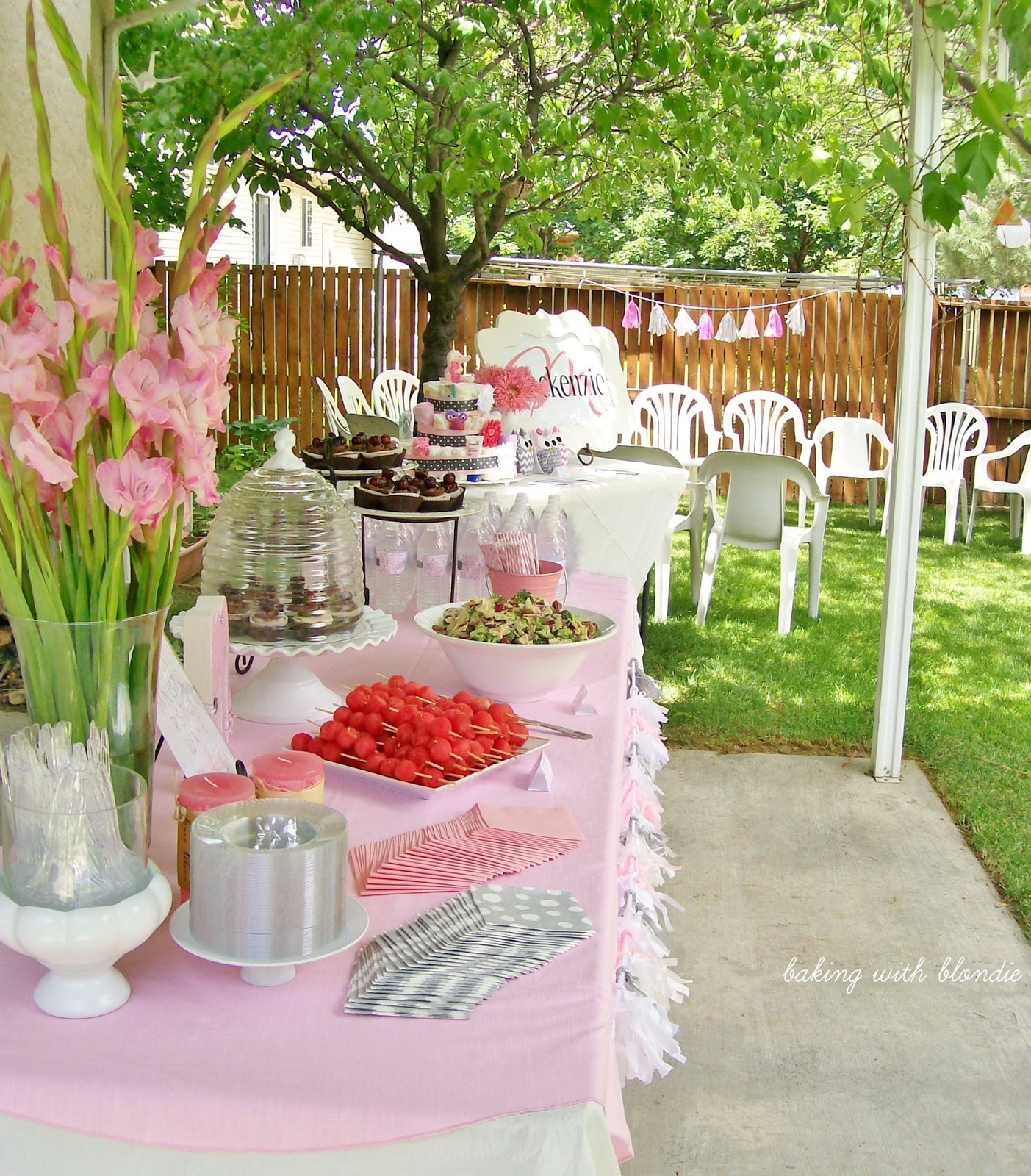Outdoor Girl Baby Shower Ideas