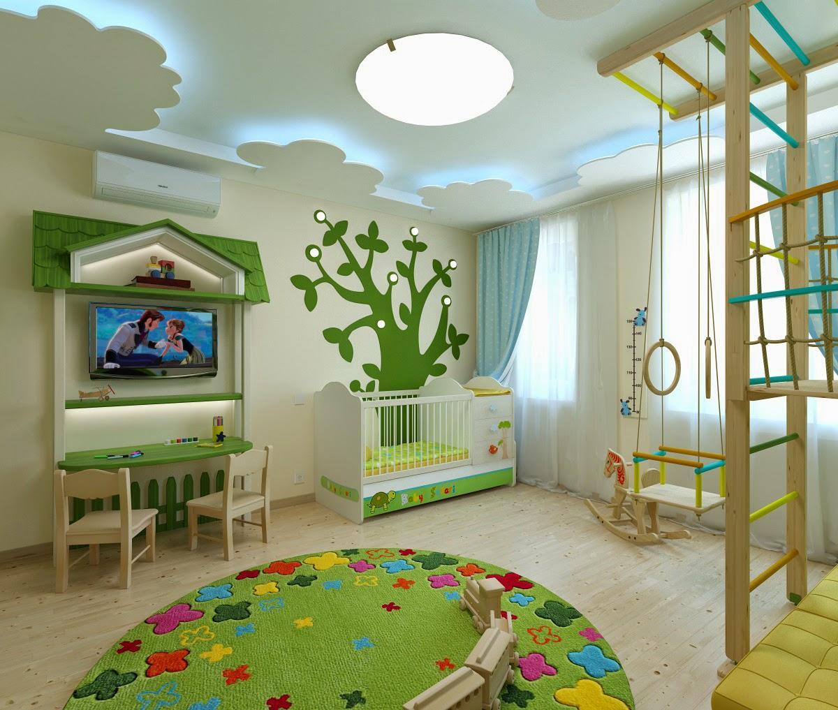 Bedroom Decor Brown Childrens Bedroom Ceiling Lights Bedroom Bench Target Unique Bedroom Art: дизайн интерьера: Детская комната для двоих. Квартира в