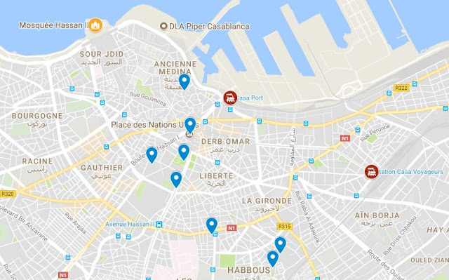 mapa turismo casablanca