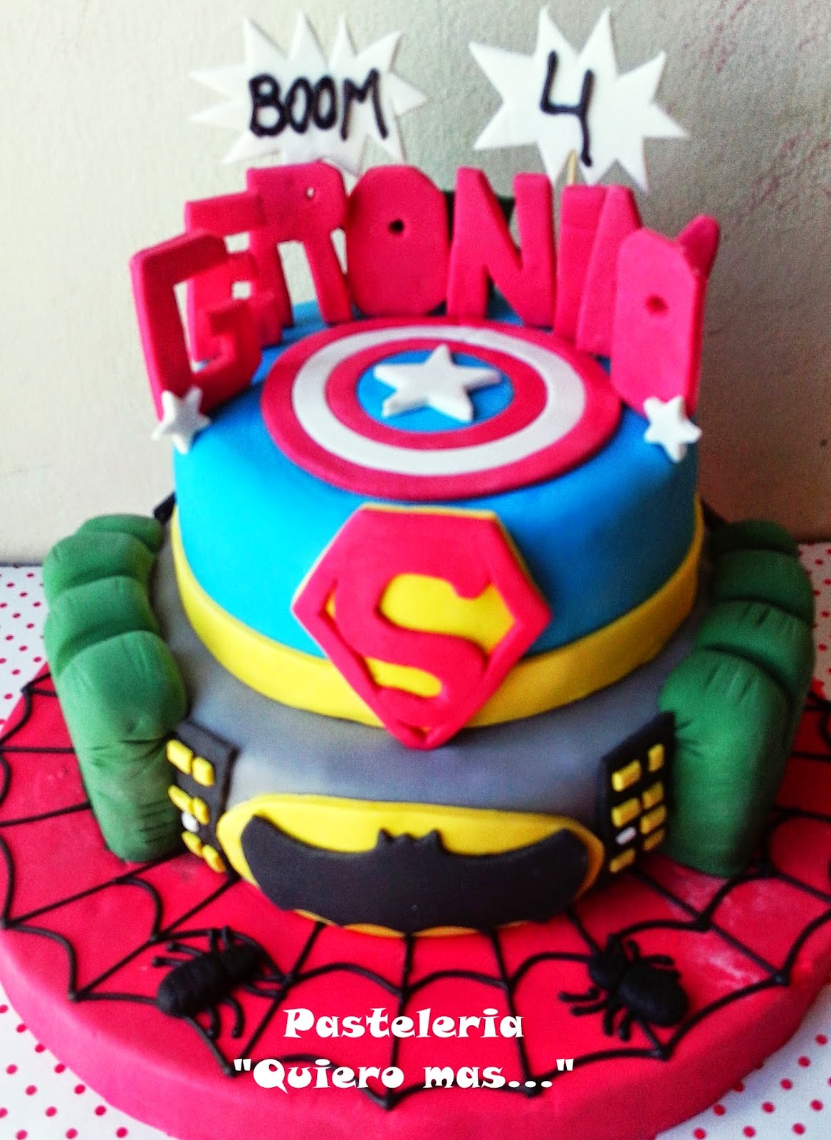 Delicias Quiero Mas Torta Super Heroes Marvel