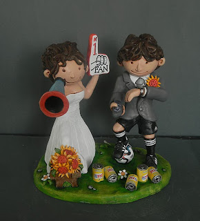 cake topper milano idee regalo sposi divertenti tifosi di calcio orme magiche