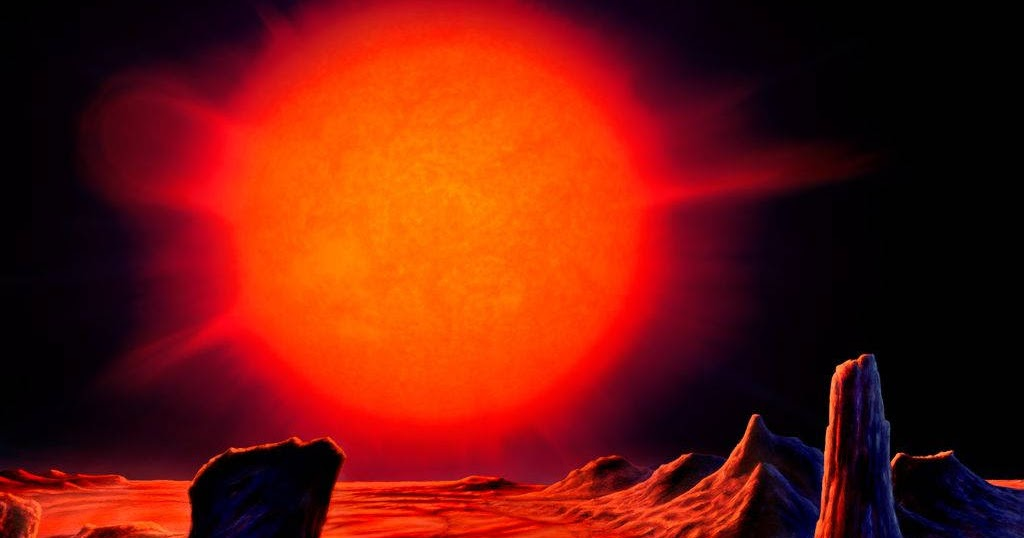 Red Giant. In a few billion years our Sun will become a ...