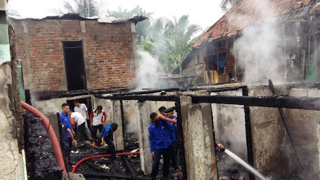 Satu Rumah OI Hangus Terbakar