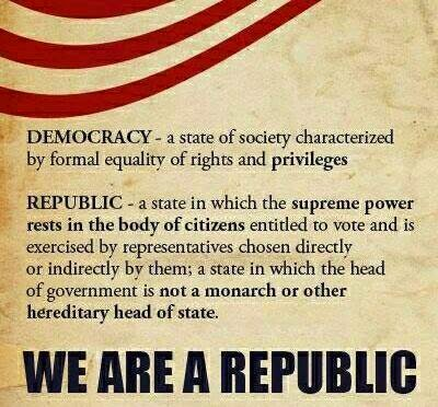 republic vs democracy The main difference between republic and democracy is that republic republic a republic is s form of government system in which power rests with the elected individuals representation the citizen body and exercise the power as per rule of law of the country.