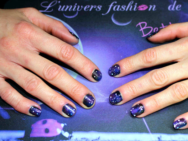 Nail art galaxy, spécial l'univers fashion de Betty