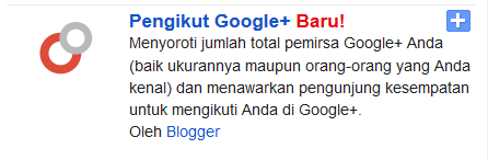 Memasang Widget Google Plus Followers dengan Kode HTML