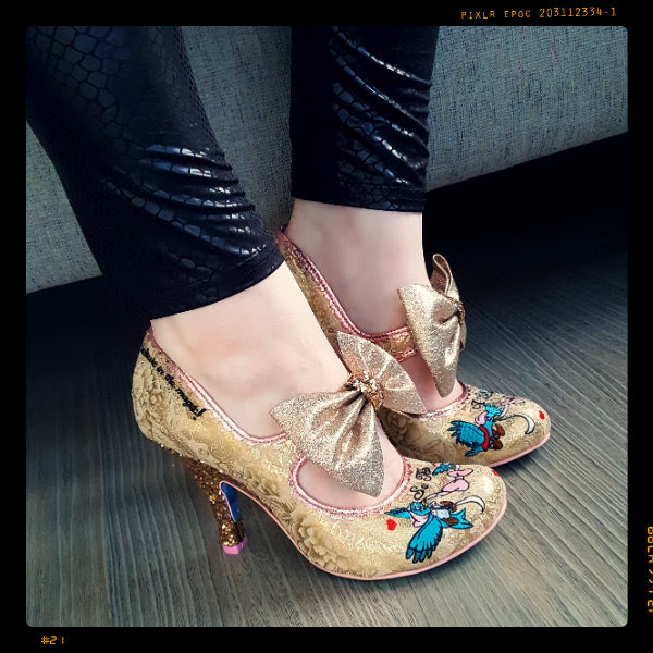 wearing disney irregular choice so this is love shoes