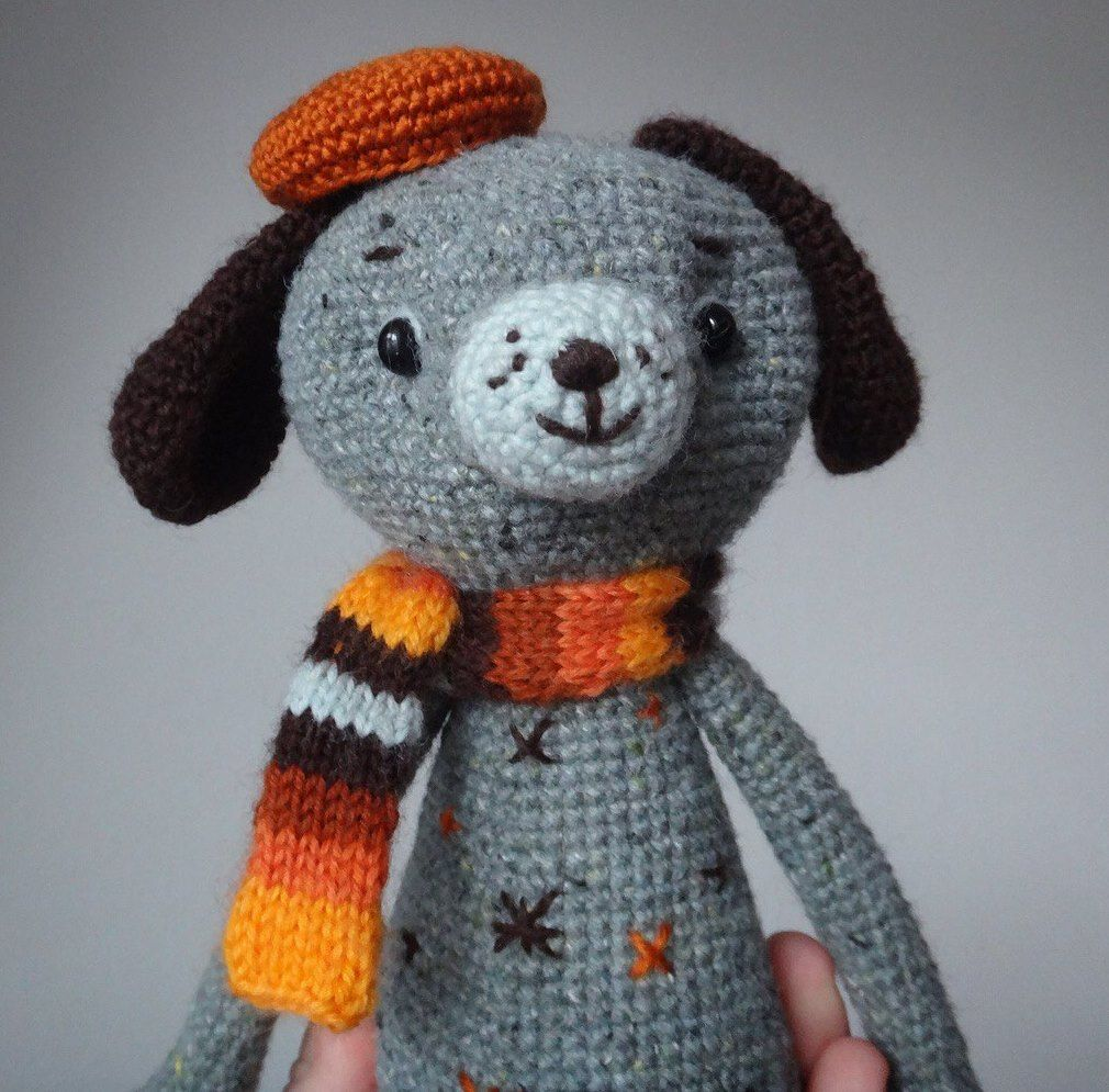 Crochet toy dog amigurumi
