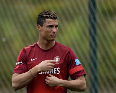 Cristiano Ronaldo training with Portugal national team