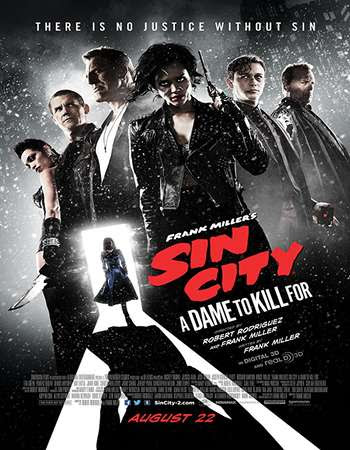 Poster Of Free Download Sin City: A Dame to Kill For 2014 300MB Full Movie Hindi Dubbed 720P Bluray HD HEVC Small Size Pc Movie Only At worldfree4u.com
