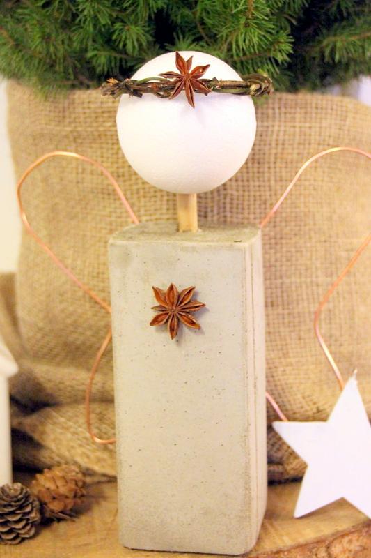 pamylotta weihnachtsengel aus beton diy. Black Bedroom Furniture Sets. Home Design Ideas