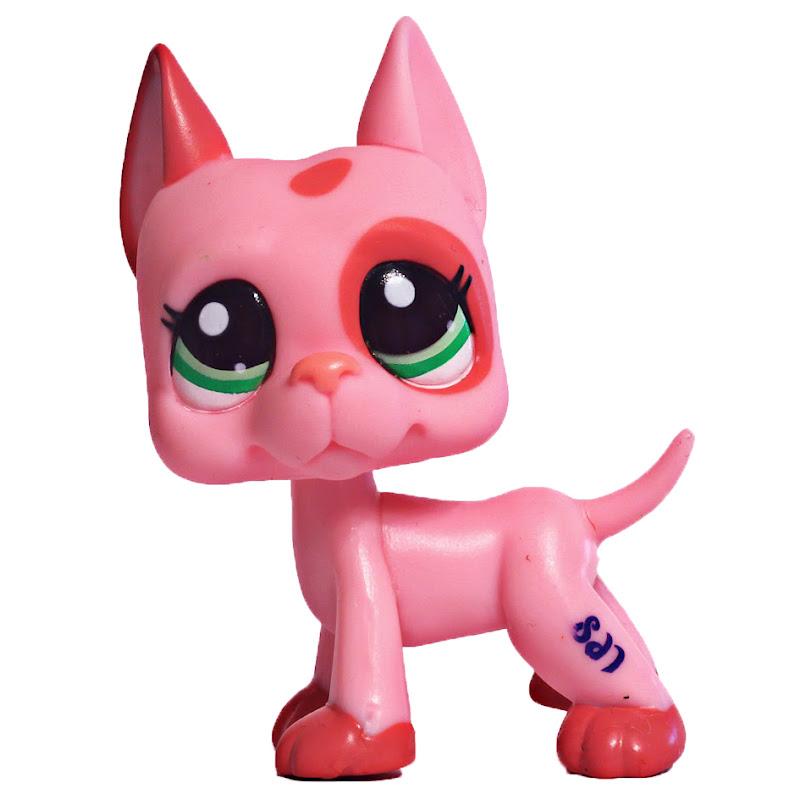 2pcs//Lot Kid Toy Littlest pet shop LPS#2598#1519 GREAT DANE  dog