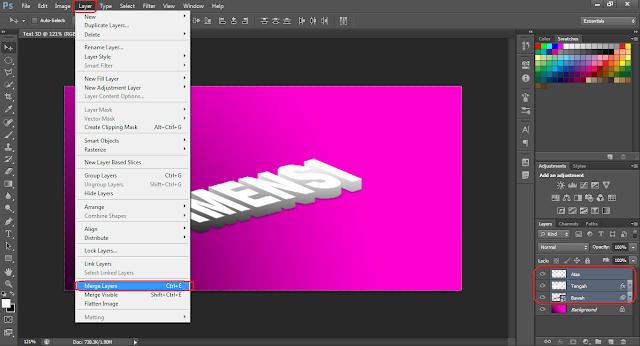 Cara membuat Tulisan 3D (3 Dimensi) dengan Photoshop CS6