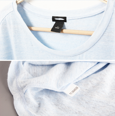 Ann Taylor Boatneck Tee blue light