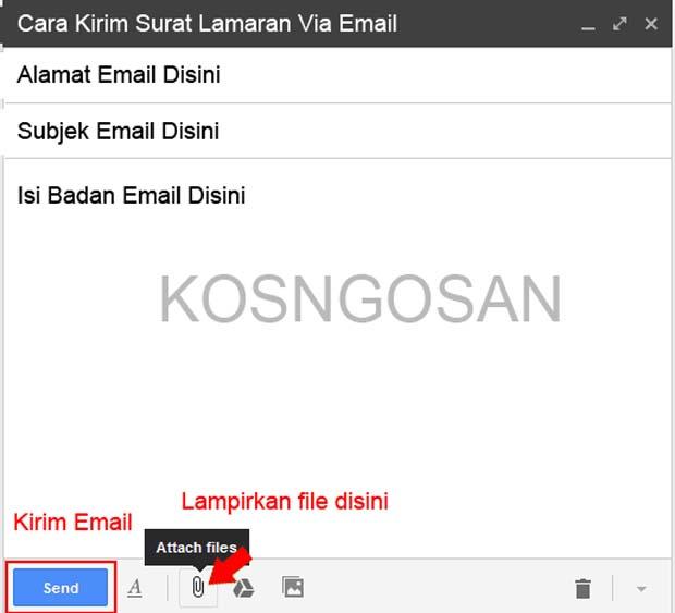 contoh emaill lamaran kerja