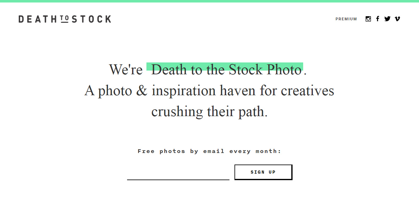 Death to Stock Photos Screenshot