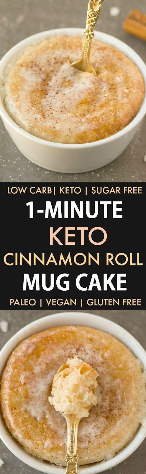 HEALTHY 1 MINUTE LOW CARB CINNAMON ROLL MUG CAKE
