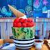 【台中大里美食】新南五五製氷所-半顆西瓜的水果剉冰新鮮好吃,復古窗框打卡美食