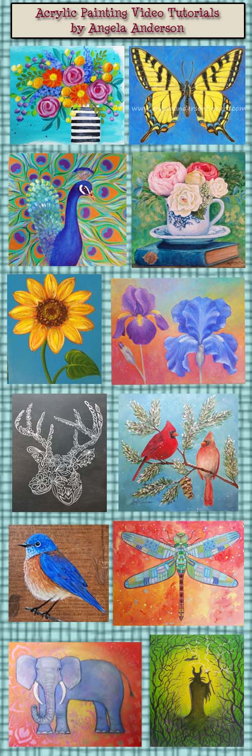 angela anderson art blog acrylic painting tutorials by