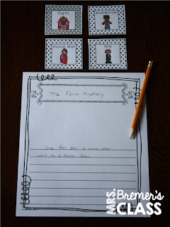 A year of first grade writing center activities and ideas! Includes story builders, poetry writing, writing prompts, letters & notes, sticker stories, write the room activities, stationery, book-making templates, and more! #1stgrade #1stgradewriting #1stgradecenters #centers #writingcenters #writingcenter #writing