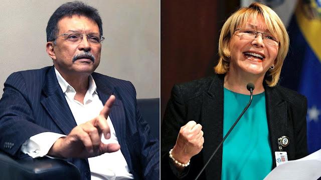 La exfiscal general de Venezuela, Luisa Ortega Díaz y su esposo, el diputado opositor, Germán Ferrer.