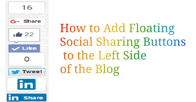 add left side of the blog floating social sharing buttons tips