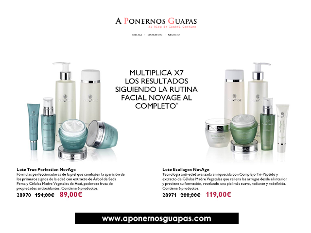 Lote experto Novage True Perfection Ecollagen Oriflame