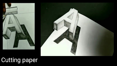 Drawing A, drawing for kids, easy to draw A, drawing for kids, 3d letters drawing ,how to draw 3d letter
