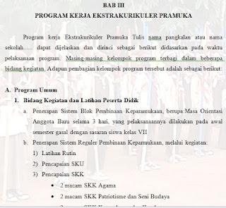 Unduh Contoh Program Kerja Kegiatan Ekstrakurikuler Wajib Pramuka