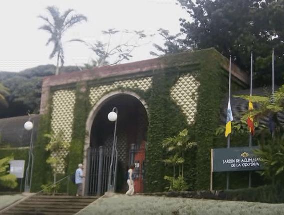 Entrada del Botánico, por su parte norte