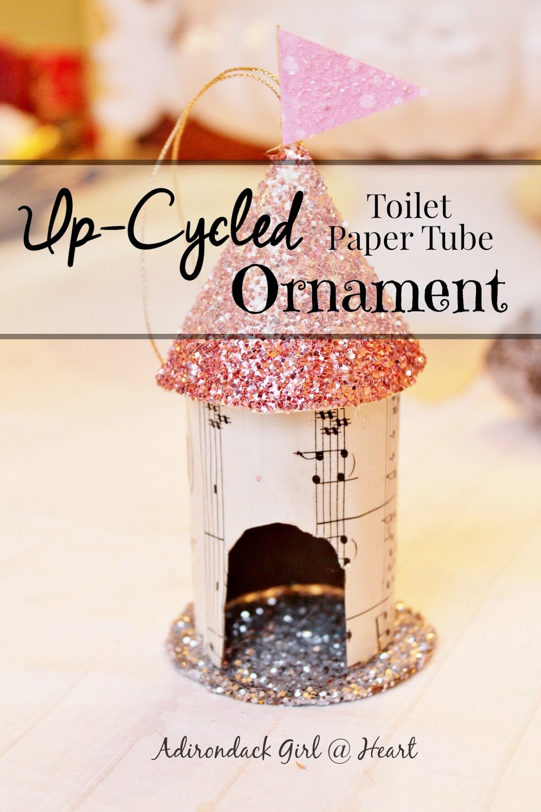 Up-Cycled Toilet Paper Tube Ornament