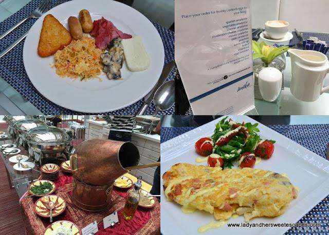 my breakfast choices at Villa Rotana